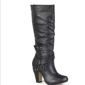 Madden Girl 'Sargentt' scrappy black mid-calf boot